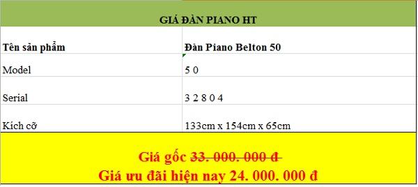 Giá đàn piano Belton tại thương hiệu đàn piano HT